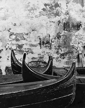 Venice. Wall and boats, 1956 c.