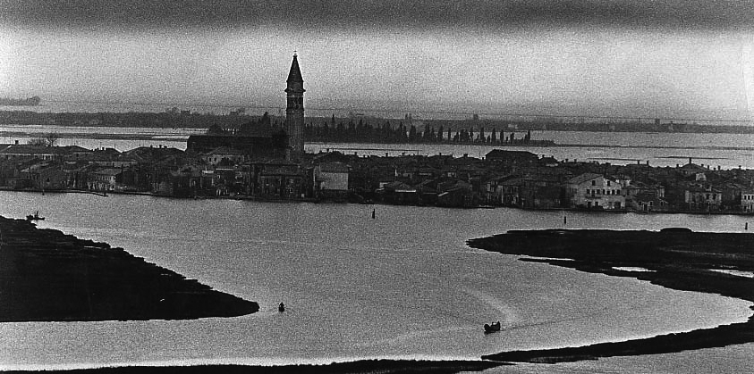 Burano from the bell tower of Torcello cathedral, 1962