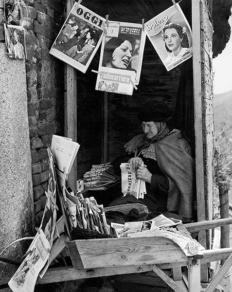 Pavia. Old Newsstand, 1949