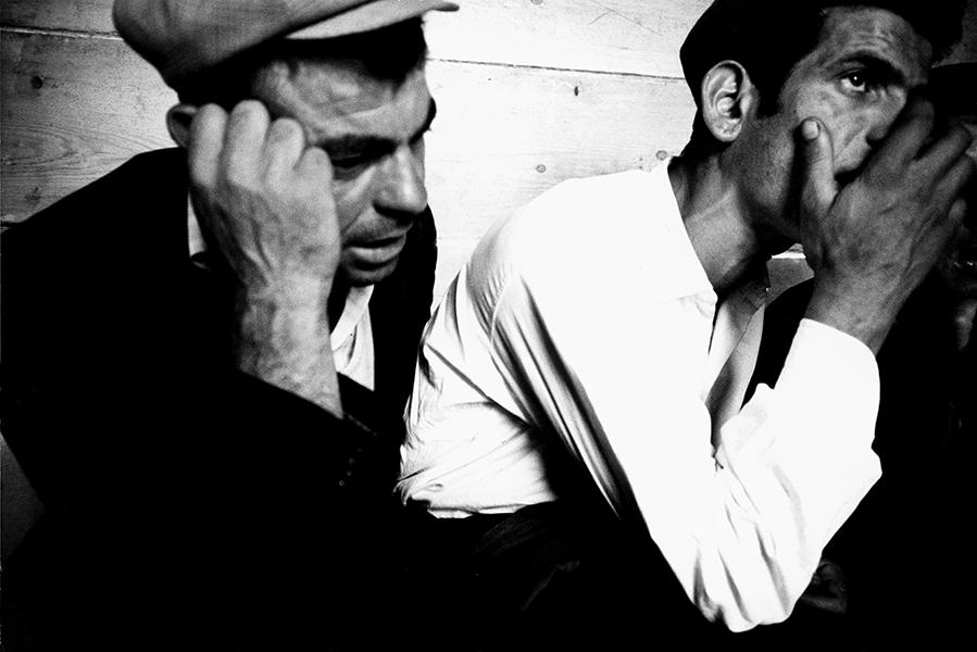 Franco Pinna. Orgosolo. Choir singers in a tavern, 1960