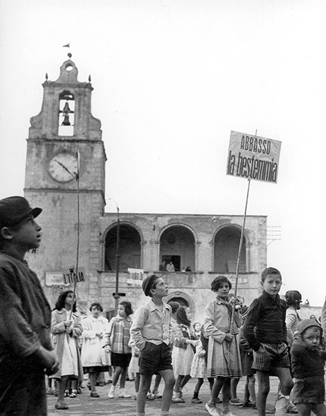 Ferrandina. Demonstration against blasphemy, 1956 c.
